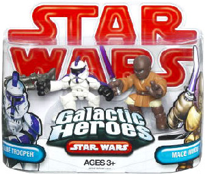 Galactic Heroes - Clone Trooper and Mace Windu RED