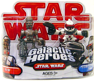 Galactic Heroes - Clone Commander Thire and IG-86 Assassin Droid RED