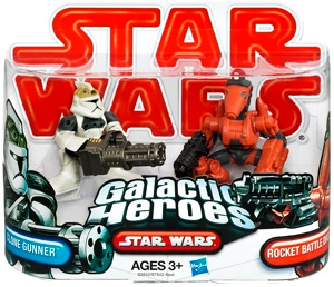 Galactic Heroes - Clone Gunner and Rocket Battle Droid