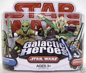 Clone Wars Galactic Heroes - Kit Fisto and General Grievous [4 Lightsabers] RED