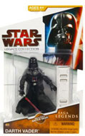 Clone Wars 2009 Red Packaging - Saga Legends - Darth Vader