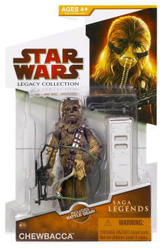 Clone Wars 2009 Red Packaging - Saga Legends - Chewbacca