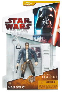 Clone Wars 2009 Red Packaging - Saga Legends - Han Solo