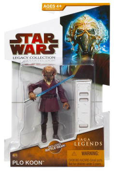 Clone Wars 2009 Red Packaging - Saga Legends - Plo Koon