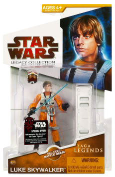 Clone Wars 2009 Red Packaging - Saga Legends - X-Wing Pilot Luke Skywalker