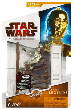 Clone Wars 2009 Red Packaging - Saga Legends - ROTJ C-3PO