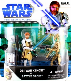 Clone Wars Movie 2-Pack: Obi-Wan Kenobi and Battle Droid