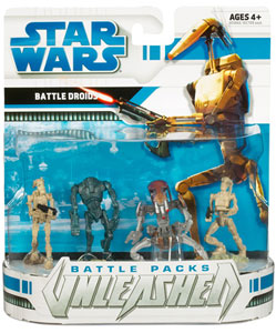 Star Wars Clone Wars Battle Packs Unleashed - Battle Droids