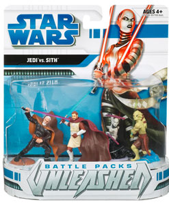 Star Wars Battle Packs Unleashed:The Clone Wars Heroes and Villains - Jedi Vs Sith