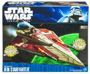 Clone Wars 2009 Black and Blue Box - Obi-Wan Jedi Starfighter