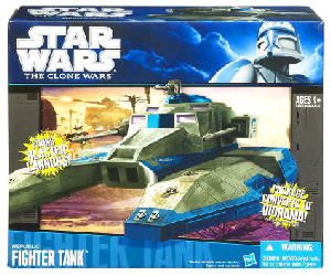 Clone Wars 2009 Black and Blue Box - Republic Fighter Tank