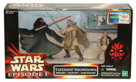 Tatooine Showdown: Darth Maul, Qui-Gon Jinn, and Anakin Skywalker