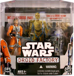 Droid Factory - Luke Skywalker and Battle Damaged R2-D2 Action Figure 2-Pack