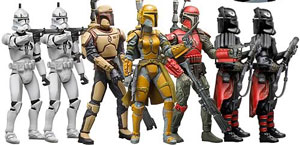 Exclusive Mandalorians and Clone Troopers Set
