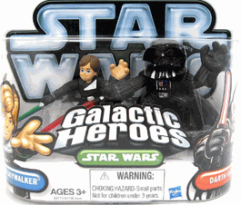 Galactic Heroes 2010 - Jedi Luke Skywalker and Darth Vader SILVER