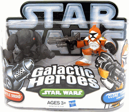Galactic Heroes 2010 - Ep II Orange Clone Trooper and Super Battle Droid SILVER