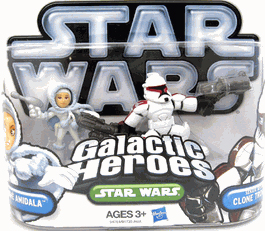 Galactic Heroes 2010 - Senate Security Clone Trooper and Padme SILVER