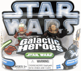 Galactic Heroes 2010 - Space Suit Anakin Skywalker and Ahsoka Tano SILVER