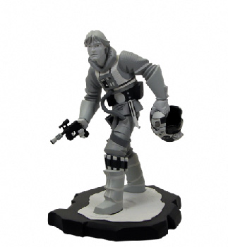 Gentle Giant - Luke X-Wing Pilot Animated Maquette Statue BLACK WHITE EDITION