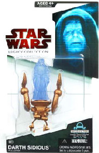 SW Legacy Collection - Build a Droid - Darth Sidious Hologram on Mechano Chair