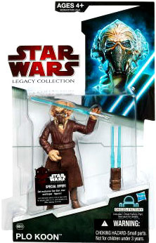 SW Legacy Collection - Build a Droid - Black Card - Plo Koon