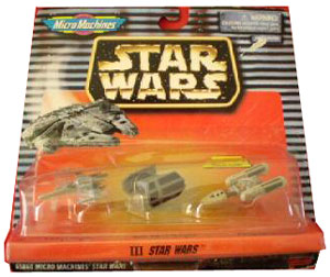 Micro Machine Star Wars III - X-Wing, Darth Vader Tie Fighter, Y-Wing
