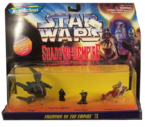 MicroMachines - Shadows Of The Empire - II [Virago, Emperor Palpatine, Prince Xizor, Swoop with Rider]
