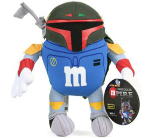 Blue M&M Boba Fett