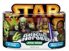 Galactic Heroes - Kit Fisto and Mace Windu GOLD