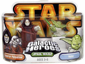 Galactic Heroes - Emperor Palpatine and Yoda GOLD