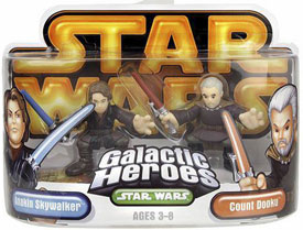 Galactic Heroes - Anakin Skywalker and Count Dooku GOLD