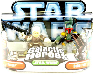 Galactic Heroes - Boba Fett and Dengar White Background
