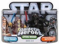 Galactic Heroes - Darth Vader and Obi-Wan Kenobi Silver