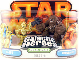 Galactic Heroes - Chewbacca and C-3PO GOLD