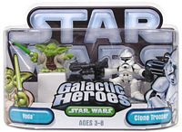 Galactic Heroes - Yoda and Clone Trooper - SILVER