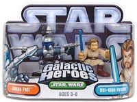 Galactic Heroes - Obi-Wan Kenobi and Jango Fett - SILVER