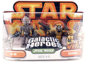 Galactic Heroes - IG-88 and Zuckuss GOLD