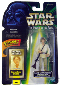 POTF - Green: Flashback Luke Skywalker with Blaster Rifle