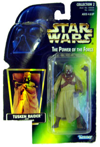 POTF - Green: Tusken Raider non-mint missing UPC
