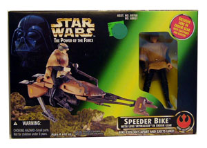 POTF - Green: Speeder Bike with Luke Skywalker in Endor Gear