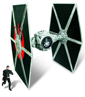 Star Wars Exclusive TIE Fighter Vehicle with Hobbie Klivian