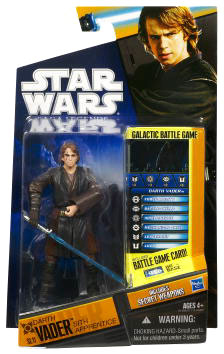 Clone Wars 2010 Black Orange Packaging - Saga Legends - Darth Vader Sith Apprentice