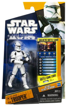 Clone Wars 2010 Black Orange Packaging - Saga Legends - EPII Clone Trooper