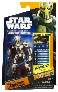 Clone Wars 2010 Black Orange Packaging - Saga Legends - General Grievous