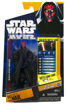 Clone Wars 2010 Black Orange Packaging - Saga Legends - Darth Maul