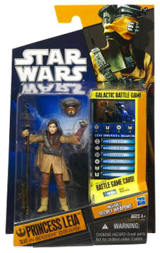 Clone Wars 2010 Black Orange Packaging - Saga Legends - Princess Leia as Boushh