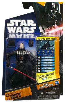 Clone Wars 2010 Black Orange Packaging - Saga Legends - Darth Vader