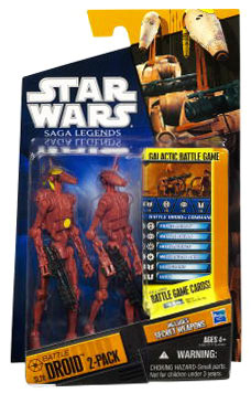 Clone Wars 2010 Black Orange Packaging - Saga Legends - Battle Droid 2-Pack