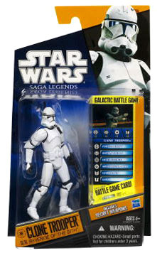 Clone Wars 2010 Black Orange Packaging - Saga Legends - EPIII Clone Trooper
