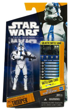 Clone Wars 2010 Black Orange Packaging - Saga Legends - 501st Legion Trooper